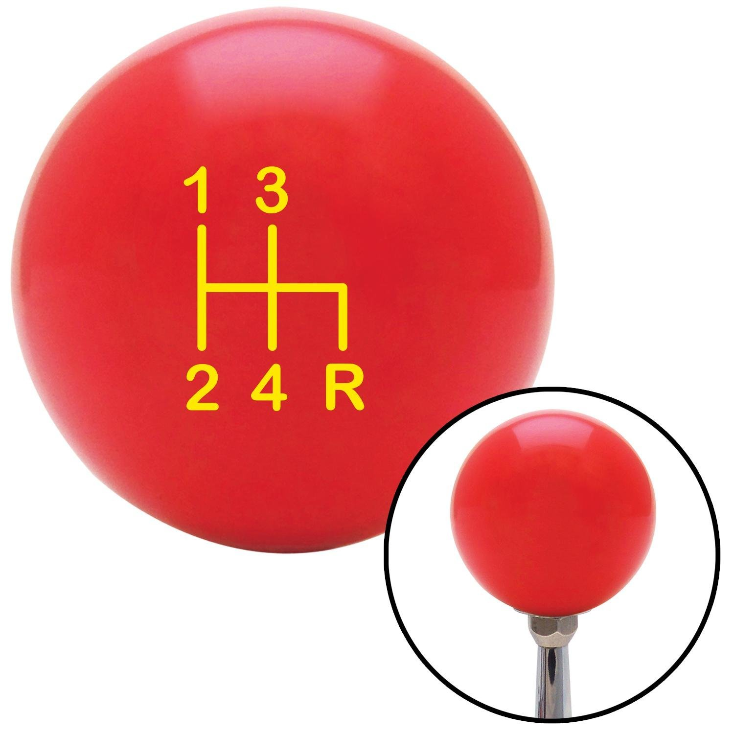 Yellow Shift Pattern 6n American Shifter 100445 Red Shift Knob with M16 x 1.5 Insert