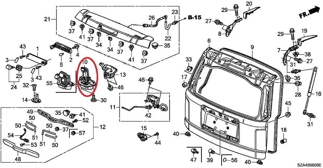 Trunk Lock Actuator//Tailgate Lock Actuator for Honda 07-11 CR-V 09-11 Pilot 74800-SMG-E01 72060 72060