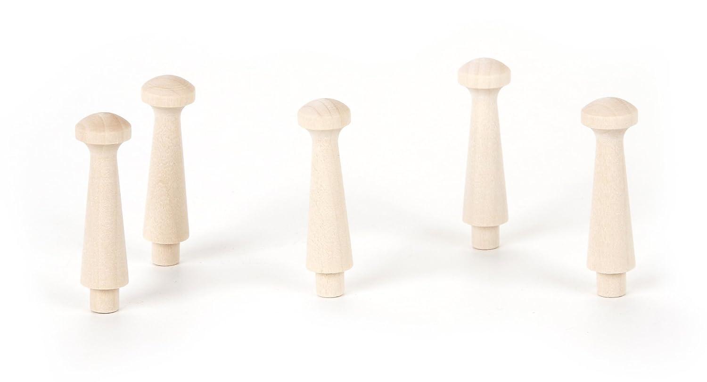Darice 9146-56 Big Value Unfinished Wood Natural Cutout Shaker Peg