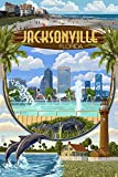 Jacksonville, Florida - Montage Scenes (12x18 Art Print, Wall Decor Travel Poster)