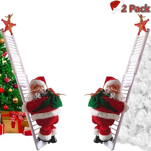 Santa Claus Climbing Ladder Doll Decoration Plush Doll Toy Christmas Gift 2019