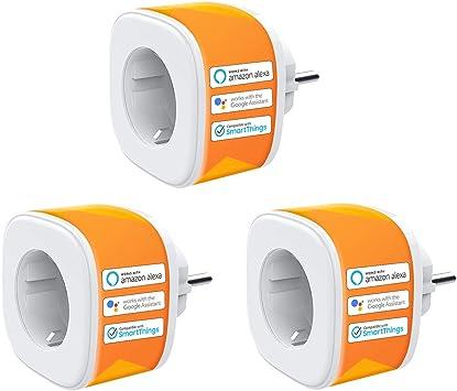 4PCS Controllo Remoto e vocale Funzione di Temporizzazione Presa Intelligente Wifi Smart Plug 16A Mini Presa Wireless Smart Compatibile con Alexa Google Home