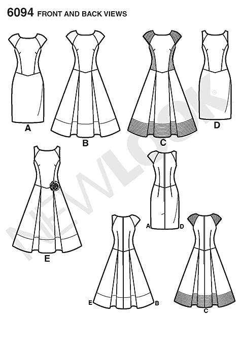 New Look Tamaño 6094 8/10/12/14/16/18 patrón de costura para patrones de