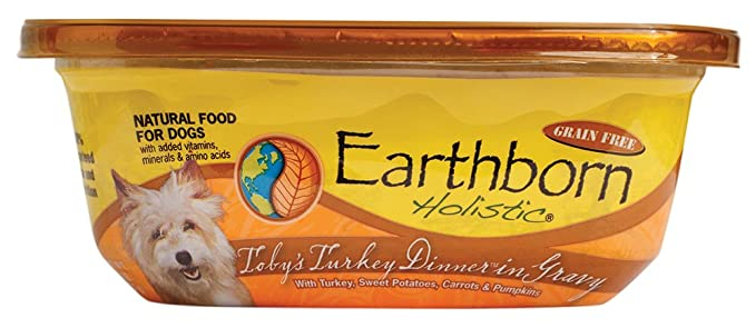 Amazon.com : Earthborn Holistic TobyS Turkey Dinner In Gravy Grain Free Moist Dog Food, 8 Oz, Case Of 8 : Wet Pet Food : Pet Supplies