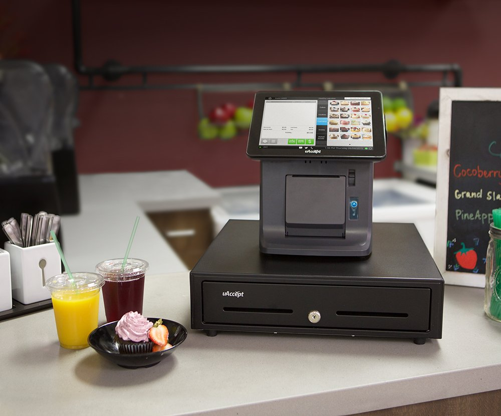 uAccept Complete POS Including 9.7'' Touch Screen, 20 Rolls of Thermal Receipt Paper, Barcode Scanner by Processing Point (Image #2)