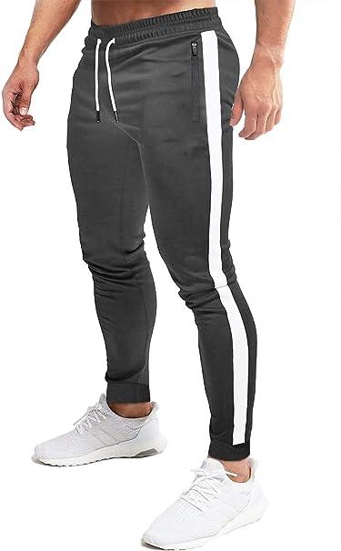 MAGCOMSEN - Pantalones de chándal elásticos para hombre: Amazon.es ...