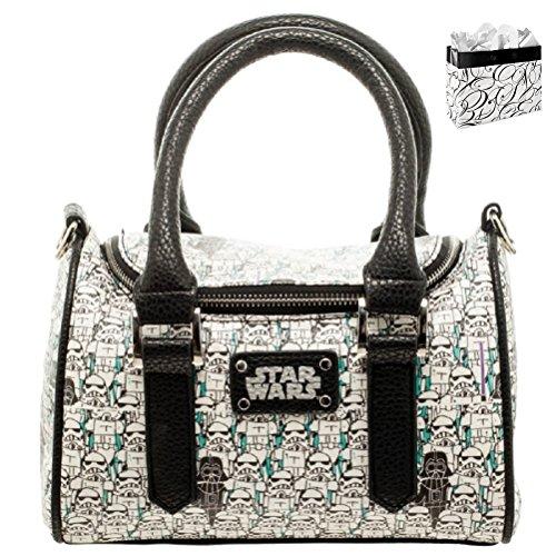 Star Wars Stormtrooper Top Handle-Crossbody Bag and Gift Bag Set (Darth Vader Purse)