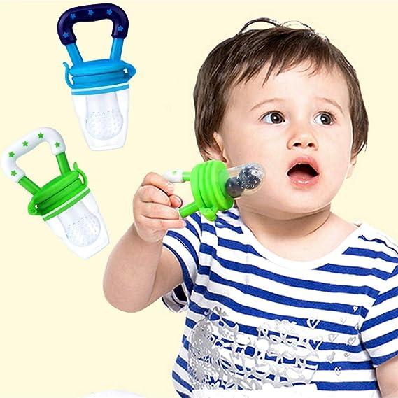Alimentador de alimentos para bebés, Alimentador de fruta fresca cultivable con tinables Juguete de dentición para bebés Mordisqueador Chupete mordedor para ...