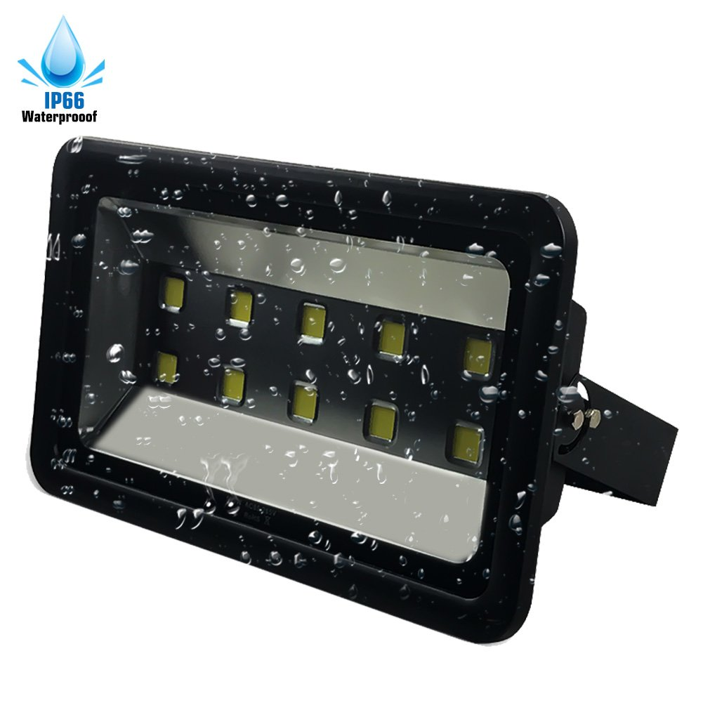 LuBao 500W Led Flood Light 10 led lights 50000lm Waterproof Super Bright 6000K White Light Spotlights Flood Lamp,120-Degree Beam Angle Wall Lights for Outdoor Garden Landscape Playground by Lubao