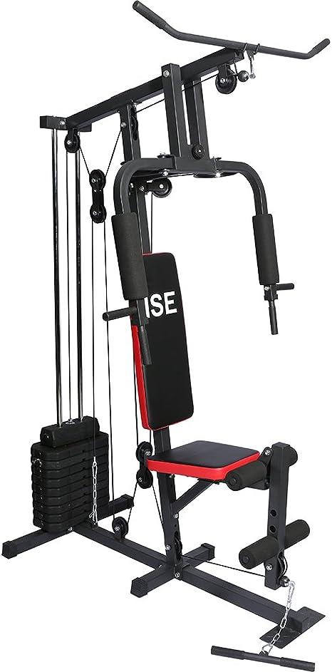 ISE Station de Musculation Banc de Musculation Multifonction/avec Poids SY-4002