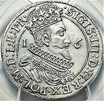 1623 PL Poland Danzig Polish King Sigismund III Antique Silver Coin Ort About Uncirculated Details PCGS