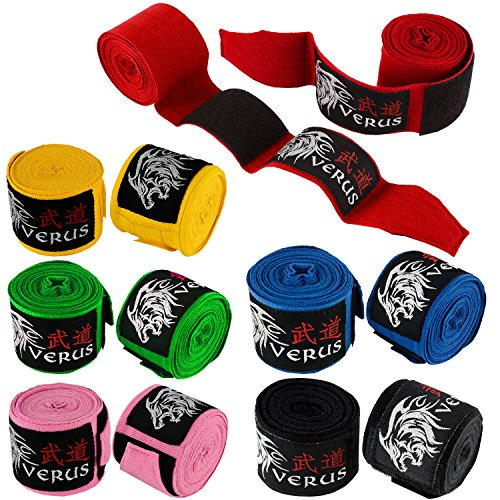 VERUS Elastic Hand Wraps MMA Inner Gloves Fist Protector Mitts Boxing Bandages