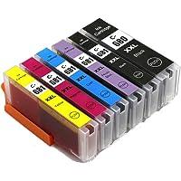 6X Generic Canon PGI-680 680XXL CLI-681 681XXL Ink Cartridges for Canon TS8160 TS8260 TS8360 TS9160 6360 (1Bk+1Pbk+1Cyan…