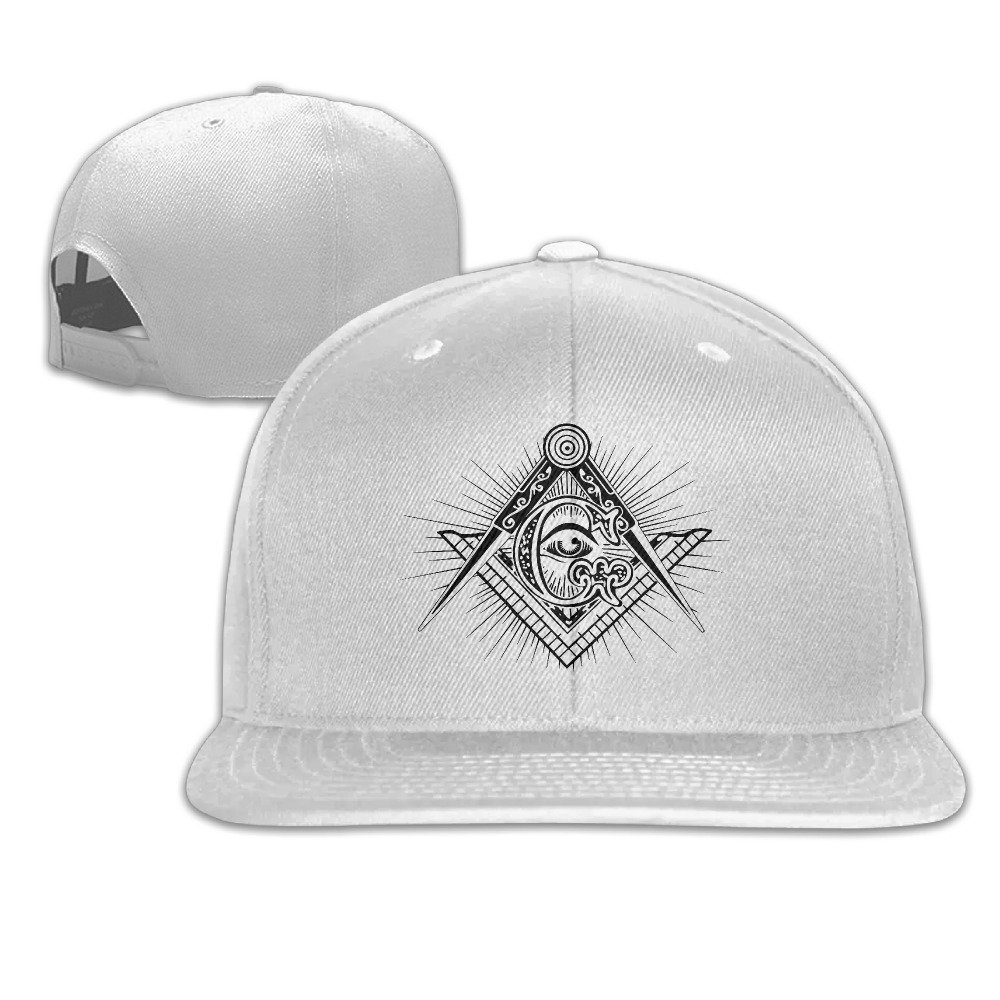 69d492539c8 Amazon.com  Masonic Square   Compasses Symbol Trucker Hats Hip Hop  Snapbacks  Clothing
