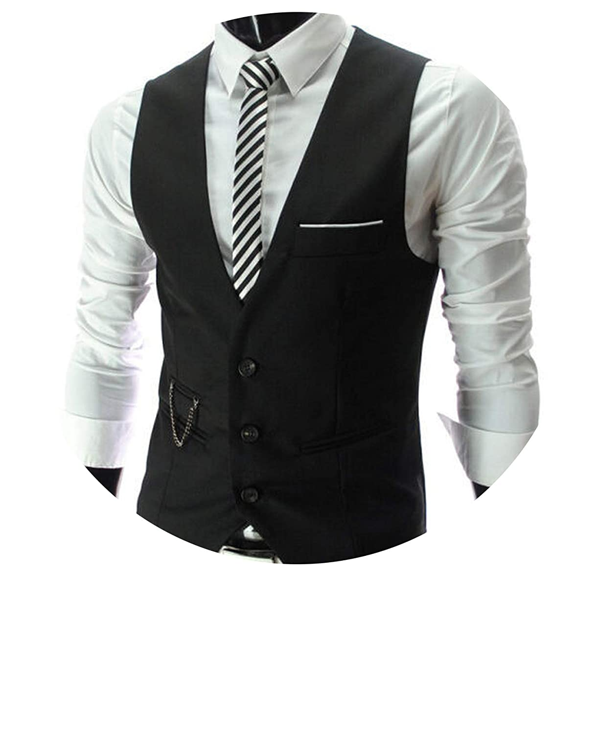 Heat-Tracing Men Slim Fit Mens Suit Vest Male Waistcoat Gilet Homme Casual Sleeveless Formal Business Jacket