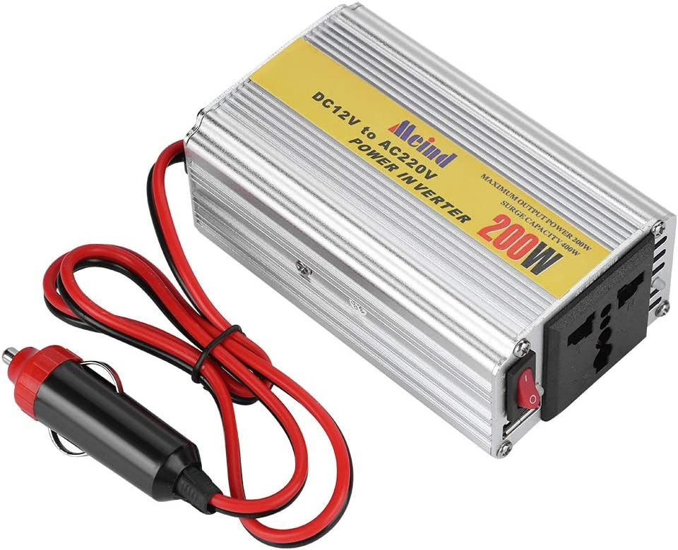 Eboxer DC12V 400W m/áx Inversor del Coche Tel/éfono,Reproductor de Video AC 220V Transformador de Voltaje con Puerto USB Encendedor de Cigarrillos para Autom/óvil para Computadora port/átil etc.