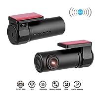 Dash Cam, UGI Car DVR Dashboard Camera 170°1080P HD Single Lens WiFi Hidden Car DVR Mini Dash Cam Camera Video Recorder Camcorder with Night Vision,WDR,G-Sensor,Loop Recording