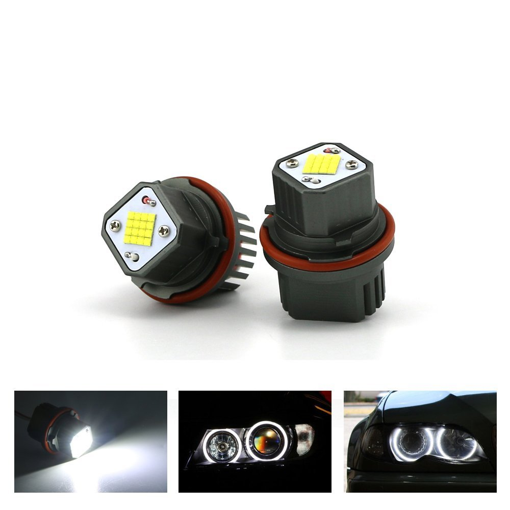 E90 E91 6W LED Angel Eyes ZXREEK Faro principale Luce Halo Anello per 3 serie Sedan/Wagon 325i 325xi 328i 328xi 63117161444