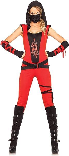 Amazon.com: Leg Avenue, disfraz de ninja asesina, para mujer ...