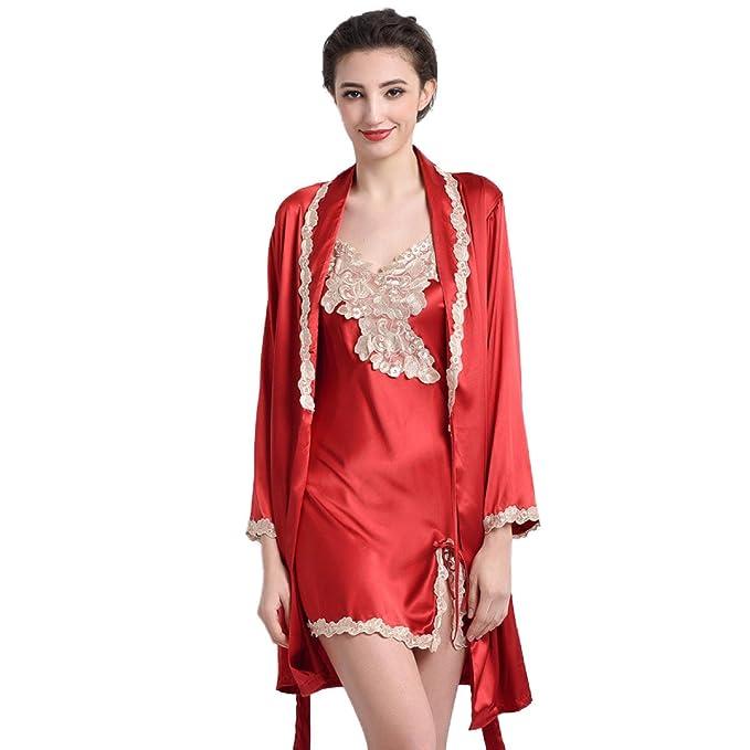 Conjunto De 2 Pijamas De Seda Para Mujer Conjunto De 2 Pijamas De Seda Para Mujer