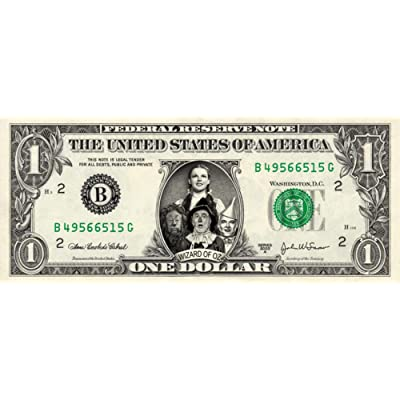 Wizard of Oz on a Real Dollar Bill Collectible Cash Money Rare Mint $1: Everything Else