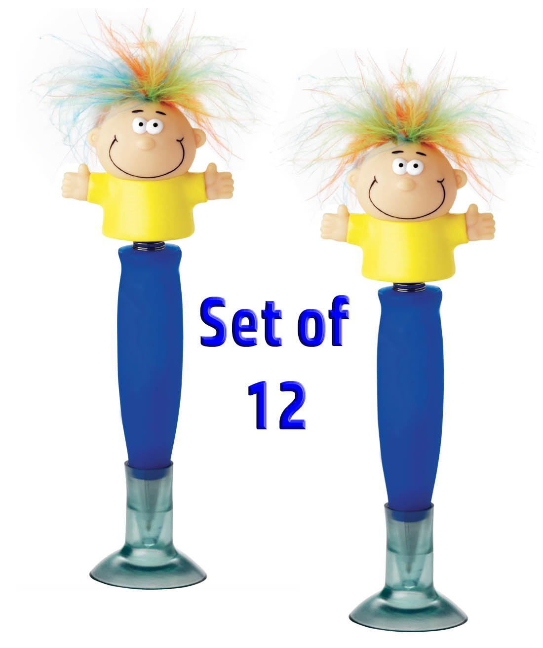 Set of 12 Party Favors Talking Bobble Body Pen With Holder
