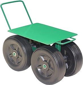 xiuxiu Garden Rolling Work Seat, Heavy Duty Garden Stool, Garden Cart Rolling Scooter with Seat, Cart Stool Gardening and Outdoor Lawn Care, Garden Cart Sliding