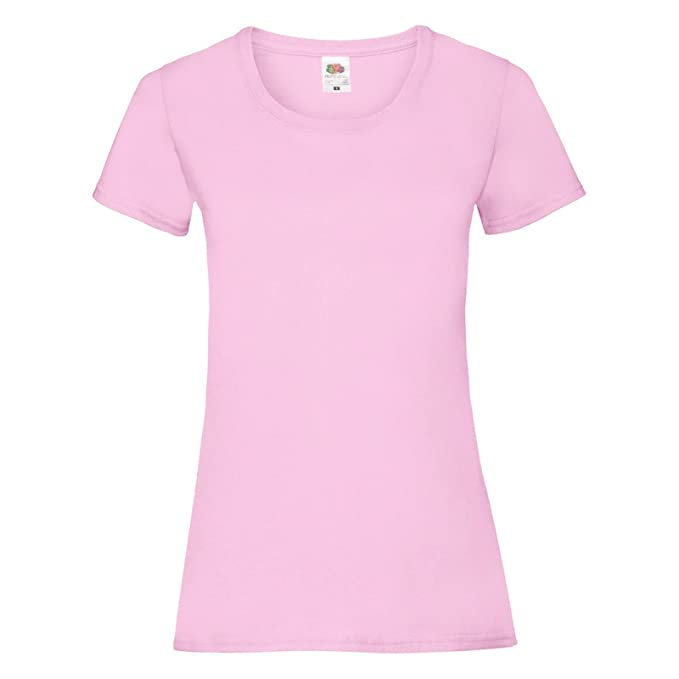 c34732c44adcc9 T-Shirt Da Lavoro Donna Maglietta Maniche Corte Fruit of The Loom  Valueweight Lady, Colore: Rosa, Taglia: XL: Amazon.it: Abbigliamento