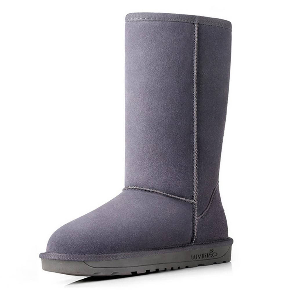 SHANGXIAN Damen Schlupfstiefel Warm Gefütterte Stiefel Stiefel Glitzer Schuhe Strass Nieten Blaumen Profilsohle