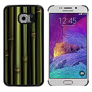 Paccase / Dura PC Caso Funda Carcasa de Protección para - Bamboo Green Wallpaper Nature Panda Foof - Samsung Galaxy S6 EDGE SM-G925
