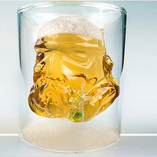 Amazon.com: VI AI - Taza de cristal para whisky con doble ...