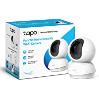 TP-LINK Tapo Pan/Tilt Smart Security Camera, Indoor CCTV, 360° Rotational View, Works with Alexa & Google Home, No Hub…