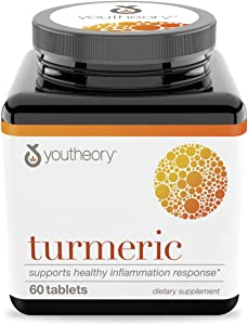 Youtheory Turmeric Advanced with Black Pepper (bioperine) 60 Tablets (1 Bottle)