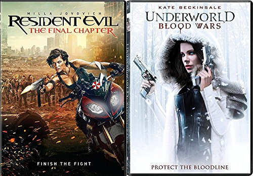 Finish the Fight Zombies Resident Evil Final Chapter & Vampires Blood Wars Underworld Lycans Protect the Bloodline