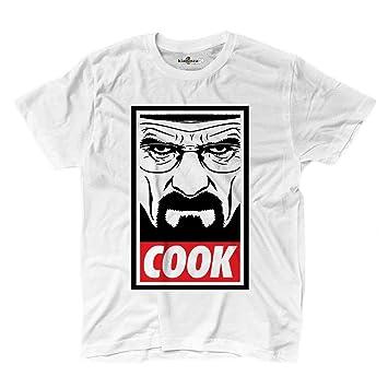 KiarenzaFD - Camiseta Camiseta Breaking Heisenberg Bad Crystal Meth Cook química, KTSA02282-S-