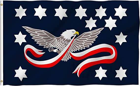 Anley Fly Breeze 3x5 Foot Whiskey Rebellion Flag - Vivid Color and UV Fade Resistant - Canvas Header and Double Stitched - Whiskey Insurrection Flags Polyester with Brass Grommets 3 X 5 Ft