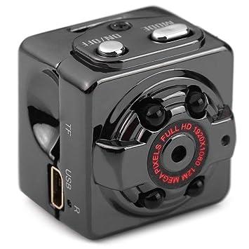 Super Mini Cámara oculta, imusk HD 1080P/720P portátil acción grabadora de vídeo DV con visión nocturna para interior y exterior uso: Amazon.es: Deportes y ...