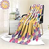 AmaPark Digital Printing Blanket Thai Baby Wildlife Prints Summer Quilt Comforter