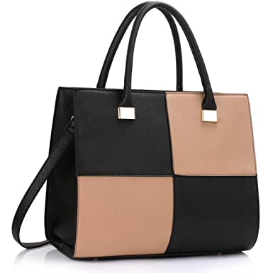 25e0a5783c LeahWard Women s Tote Bags (Black Nude)  Amazon.co.uk  Clothing