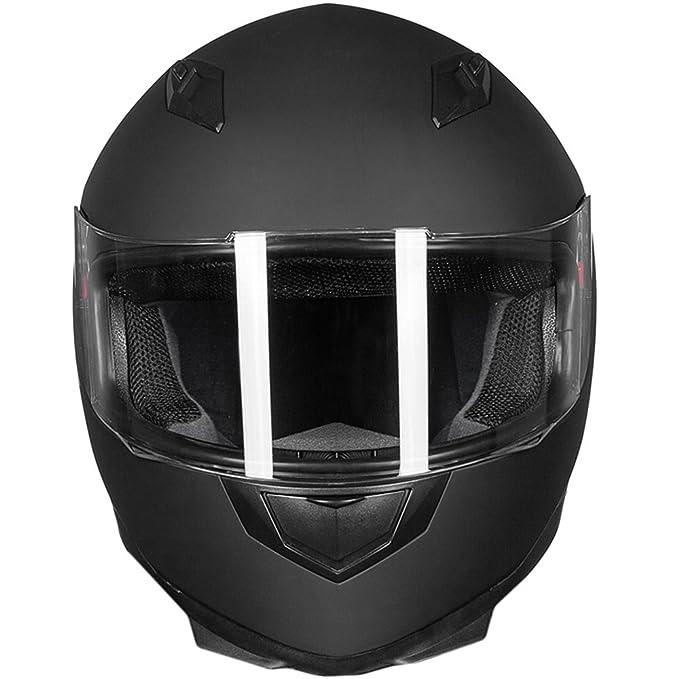 Amazon.com: Casco de rostro entero ILM para motocicleta con ...