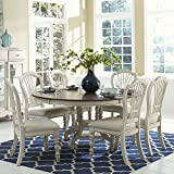 Cheap Hillsdale Furniture 7-Pc Round Dining Set in Old White