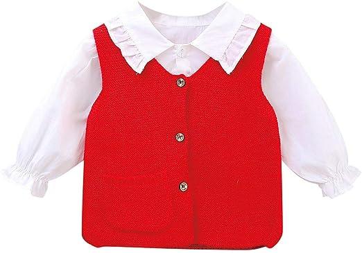 FBGood Ropa de bebé niña – Camisa de algodón de Manga Larga ...