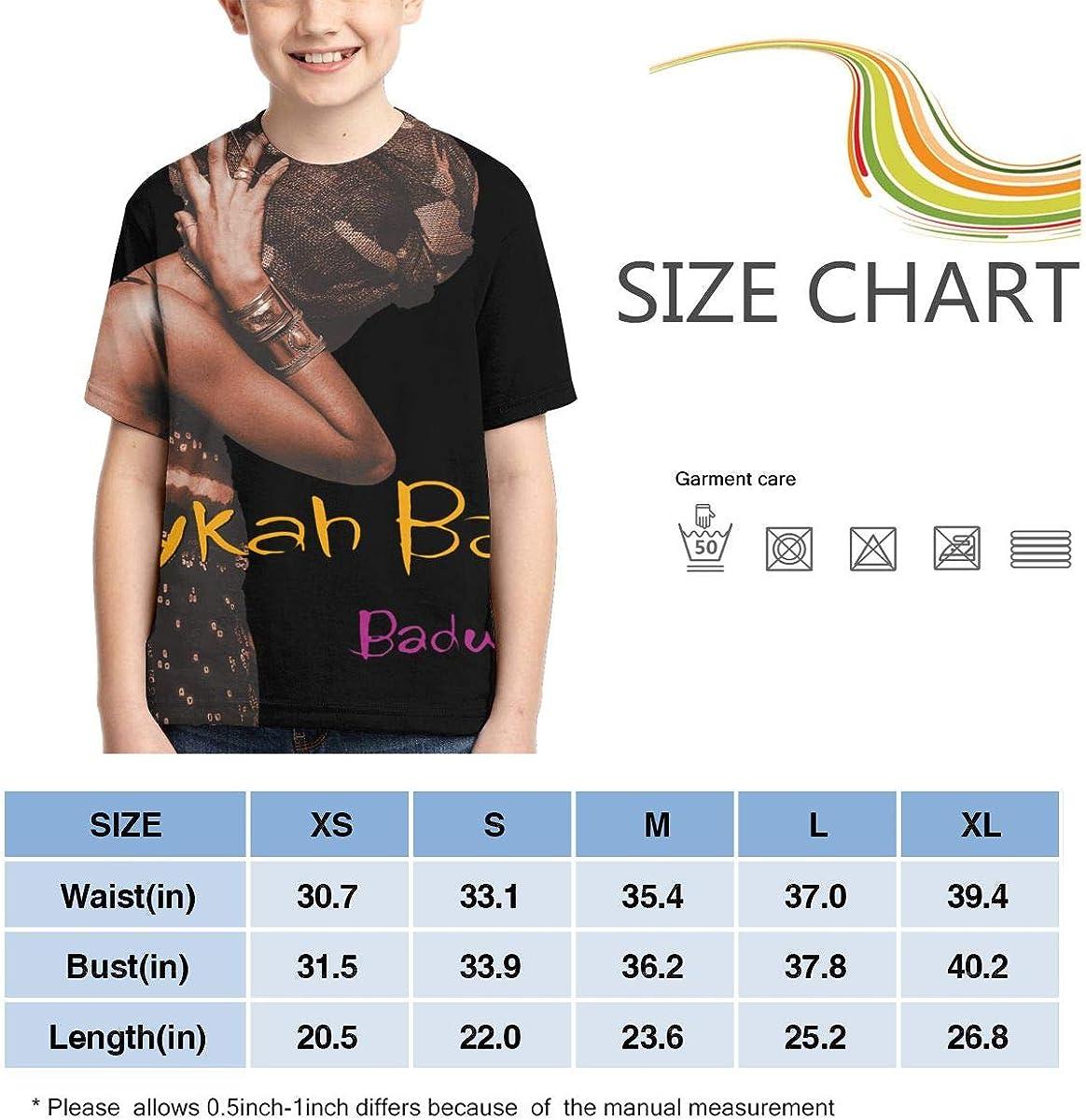 Erykah Badu Baduizm Boys Girls 3D Print Short Sleeve Outdoor T-Shirt Tops Black