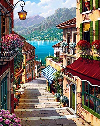 Waterfront City House?5D Diamond Painting Embroidery Diy Paint-By-Diamond
