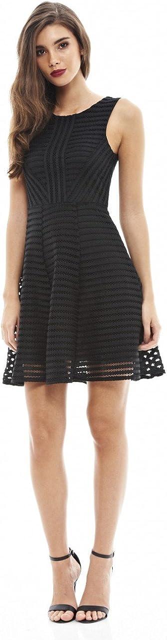 SHOWNO-Women Lace Stitch A-Line Plus Size 3//4 Sleeve Solid Color Cocktail Party Midi Dress
