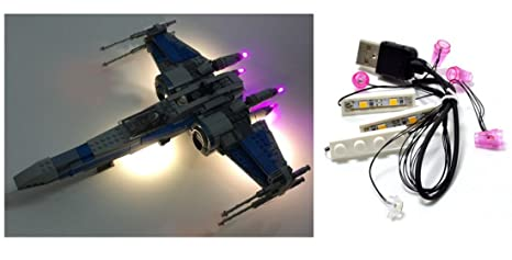 Kit di illuminazione a led per lego star wars wing