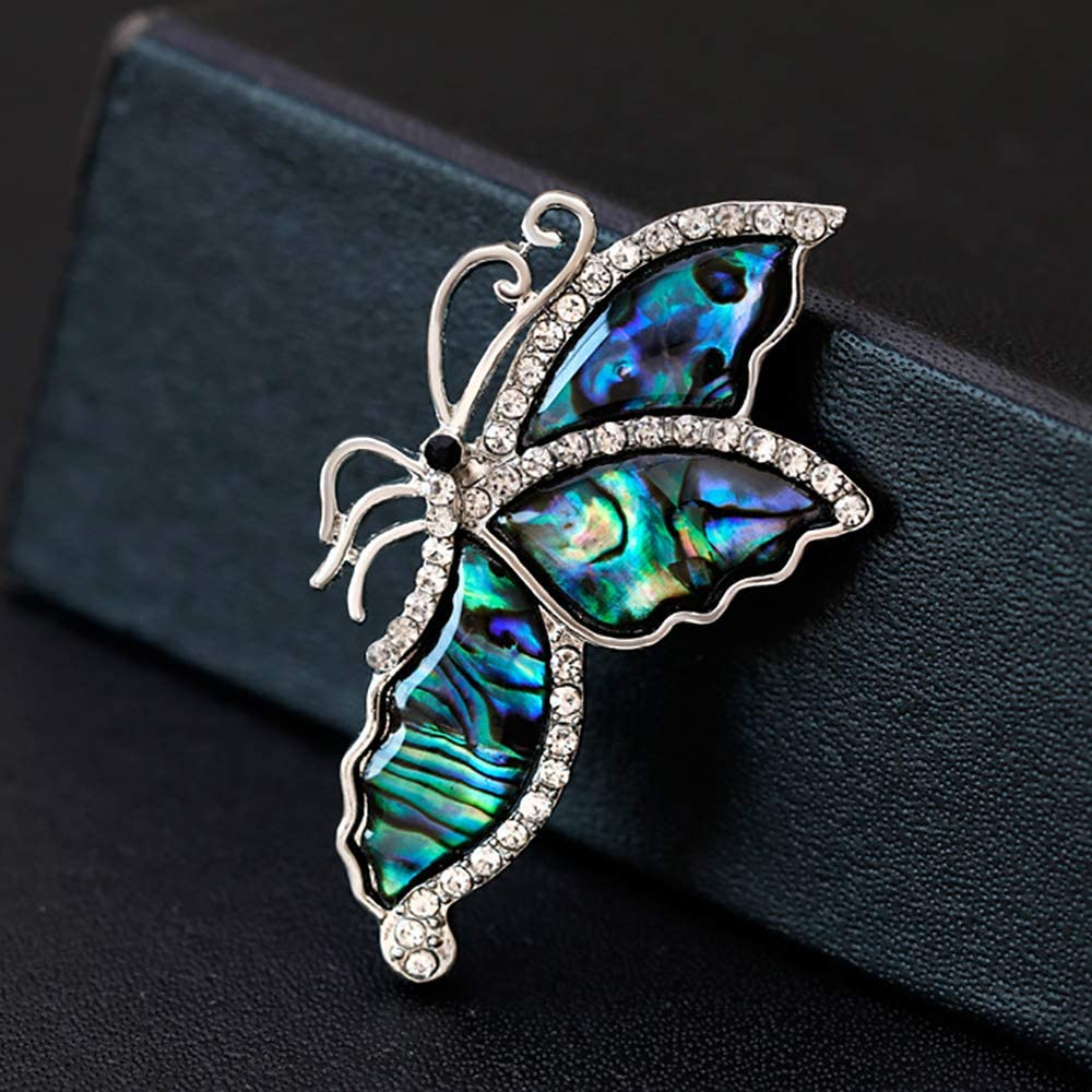 VEINTI+1 Creative Abalone Shell Brooch Pins for Clothing,Bag,Scarf Accessory