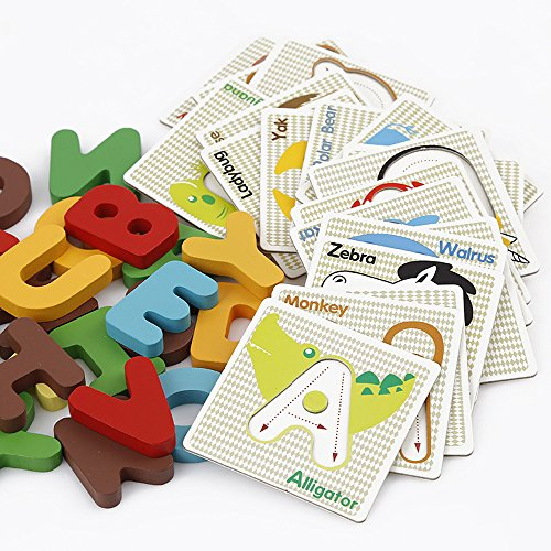 (StarMall Alphabet Letters Matching Puzzle ABCs Flash Cards with Animals for Kids Prechool Toddlers)