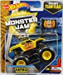 2017 Hot Wheels Monster Jam 1:64 Scale Truck with Team Flag - Max-D Yellow