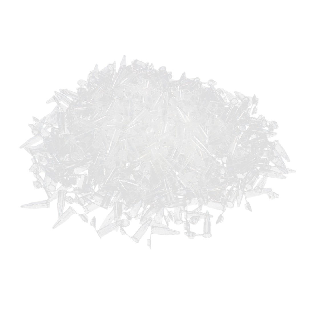 SODIAL(R) 500 Pcs Laboratory Clear White Mark Printed Plastic Centrifuge Tube 1.5ml